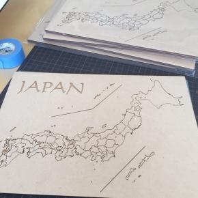 日本地図ジグソー完成